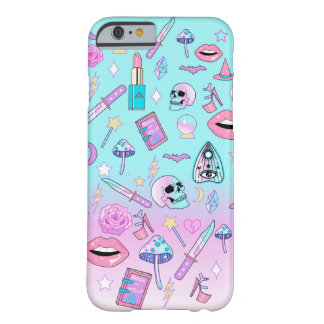 Funda Barely There Para iPhone 6 Modelo en colores pastel femenino del gótico de la