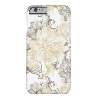 Funda Barely There Para iPhone 6 Modelo floral beige de las vides del Victorian del