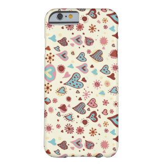 Funda Barely There Para iPhone 6 Modelo lindo de los corazones