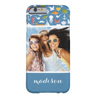 Funda Barely There Para iPhone 6 Modelo marino el   de los símbolos su foto y