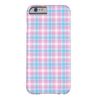 Funda Barely There Para iPhone 6 Modelo rosado, azul claro y blanco de la tela