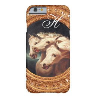Funda Barely There Para iPhone 6 Monograma de los caballos del carro del Pharaoh
