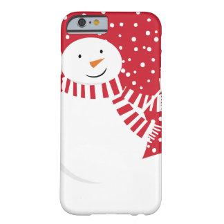 Funda Barely There Para iPhone 6 muñeco de nieve contemporáneo moderno del invierno