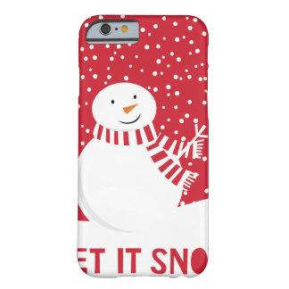 Funda Barely There Para iPhone 6 muñeco de nieve rojo y blanco contemporáneo