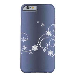 Funda Barely There Para iPhone 6 Navidad azul metálico