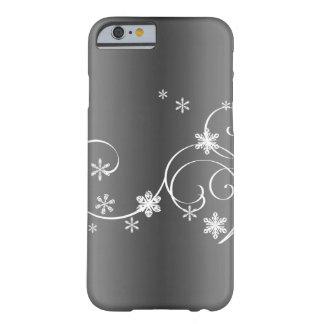 Funda Barely There Para iPhone 6 Navidad gris metálico