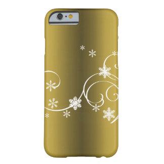 Funda Barely There Para iPhone 6 Navidad metálico del oro