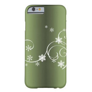 Funda Barely There Para iPhone 6 Navidad verde metálico