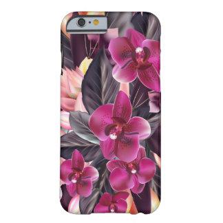 Funda Barely There Para iPhone 6 Orquídeas. Diseño tropical con las flores hermosas