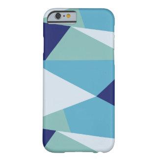 Funda Barely There Para iPhone 6 Pastel geométrico elegante de los azules marinos y