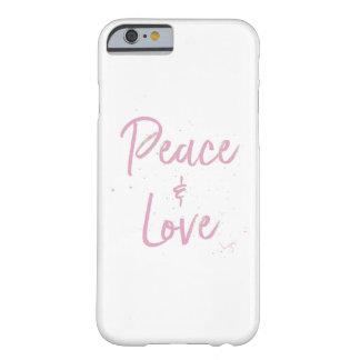 Funda Barely There Para iPhone 6 Paz-y-Amor-Rosado
