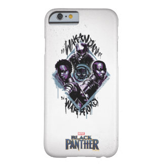 Funda Barely There Para iPhone 6 Pintada de los guerreros de la pantera negra el |
