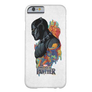 Funda Barely There Para iPhone 6 Pintada tribal de la pantera negra de la pantera