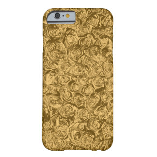 Funda Barely There Para iPhone 6 Rosas líquidos del oro
