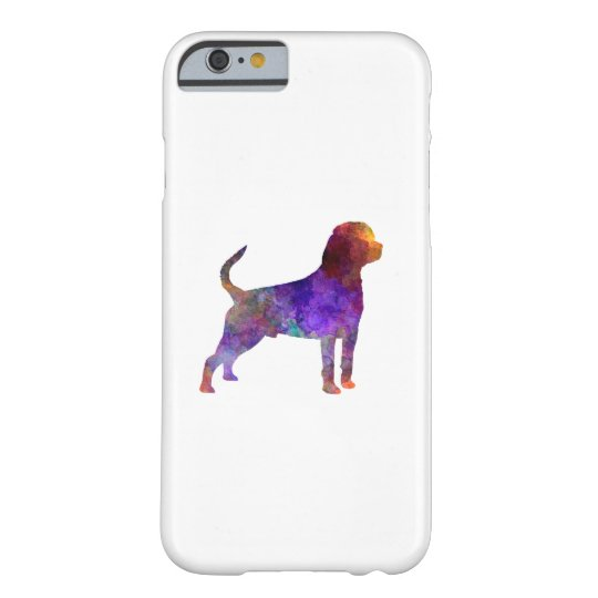 Funda Barely There Para iPhone 6 Rottweiler in watercolor
