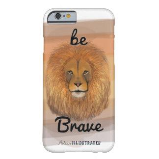 Funda Barely There Para iPhone 6 sea caso valiente del iphone 6/6s del león
