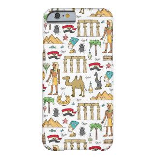 Funda Barely There Para iPhone 6 Símbolos del color del modelo de Egipto