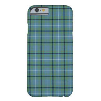 Funda Barely There Para iPhone 6 Tartán antiguo azul claro y verde del clan de