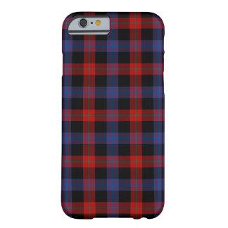 Funda Barely There Para iPhone 6 Tartán del azul real y del rojo del clan de Brown