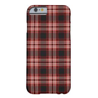 Funda Barely There Para iPhone 6 Tartán rojo y negro del distrito de Tweedside