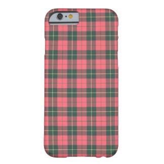Funda Barely There Para iPhone 6 Tartán rosado y verde del clan de Wallace de la