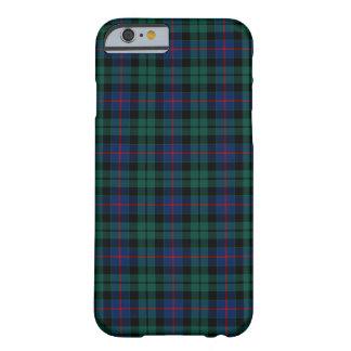 Funda Barely There Para iPhone 6 Tartán verde y azul del clan de Morrison