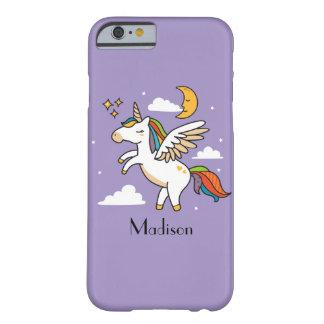 Funda Barely There Para iPhone 6 Unicornio del vuelo