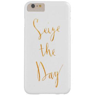 Funda Barely There Para Phone 6 Plus Agarre la caja del teléfono de las letras del oro