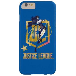 Funda Barely There Para Phone 6 Plus Arte pop del logotipo de la Mujer Maravilla JL de