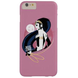 Funda Barely There Para Phone 6 Plus Arte pop del perfil de la Mujer Maravilla de la