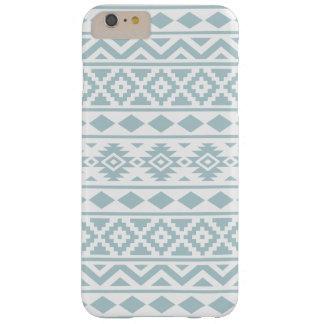Funda Barely There Para Phone 6 Plus Azul azteca del huevo del pato de Ptn III de la