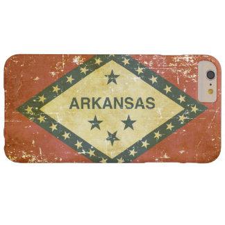 Funda Barely There Para Phone 6 Plus Bandera patriótica gastada del estado de Arkansas