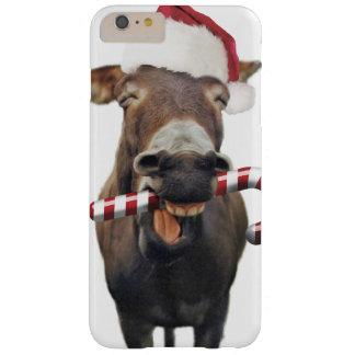 Funda Barely There Para Phone 6 Plus Burro del navidad - burro de santa - burro santa