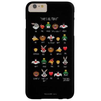 Funda Barely There Para Phone 6 Plus Carta LOONEY de TUNES™ Emoji