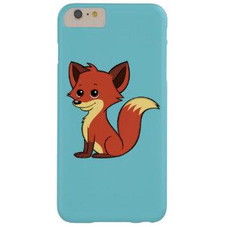 Funda Barely There Para Phone 6 Plus Caso más del iPhone 6 azules claros lindos del Fox