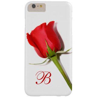 Funda Barely There Para Phone 6 Plus Caso más del iPhone 6 del monograma del rosa rojo