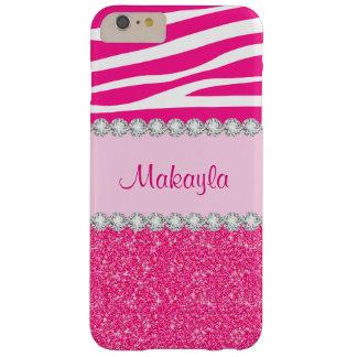 Funda Barely There Para Phone 6 Plus Caso más del iPhone 6 rosados de encargo de la