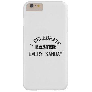 Funda Barely There Para Phone 6 Plus Celebro Pascua cada domingo divertido