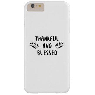 Funda Barely There Para Phone 6 Plus Día agradecido y bendecido de la acción de gracias