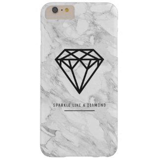 Funda Barely There Para Phone 6 Plus Diamante con mármol