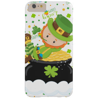 Funda Barely There Para Phone 6 Plus El Leprechaun del arroz del St