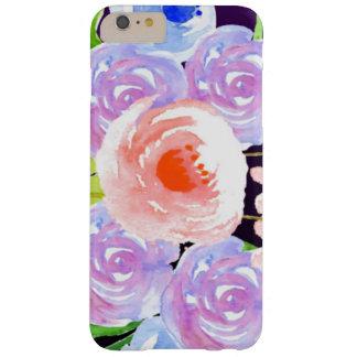 Funda Barely There Para Phone 6 Plus Flores bonitas florales de la acuarela púrpura