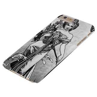 Funda Barely There Para Phone 6 Plus Flores rotos Mucha de Alfonso