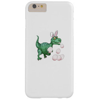 Funda Barely There Para Phone 6 Plus Huevo de Pascua divertido del conejito de T-Rex