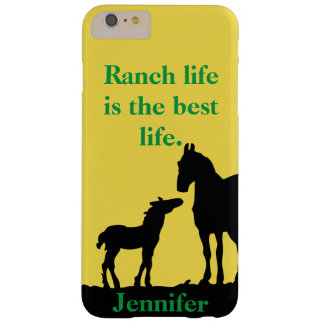 Funda Barely There Para Phone 6 Plus La vida del rancho es la mejor caja del teléfono