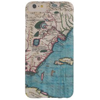 Funda Barely There Para Phone 6 Plus Mapa antiguo de la Florida y de Cuba
