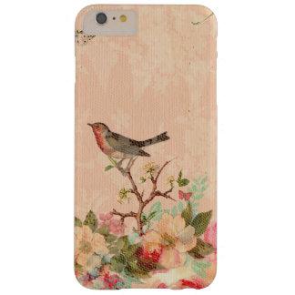 Funda Barely There Para Phone 6 Plus Moda lamentable, pájaro, mariposa, cordón, floral,