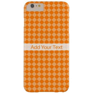 Funda Barely There Para Phone 6 Plus Modelo anaranjado del diamante de la combinación