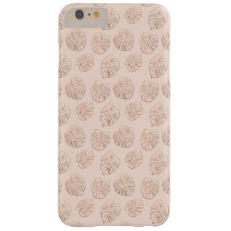Funda Barely There Para Phone 6 Plus Modelo de cobre tropical de Monstera