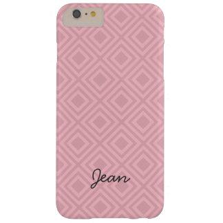 Funda Barely There Para Phone 6 Plus Modelo rosado del diamante con nombre de encargo